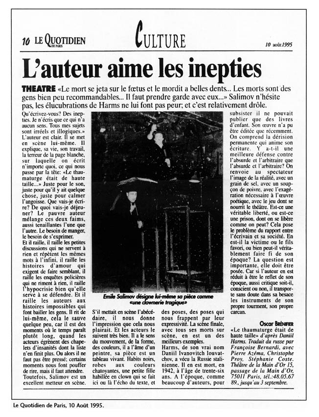 article_quotidien_de_paris_thaumaturge